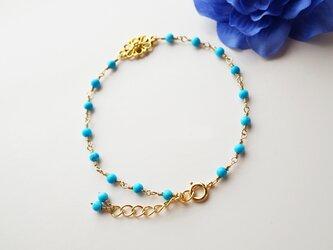プチオリエンタル ターコイズブレスレット Petit Oriental Turquoise bracelet B0014の画像