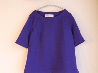 厚手ニットカットソー(青紫色)の画像