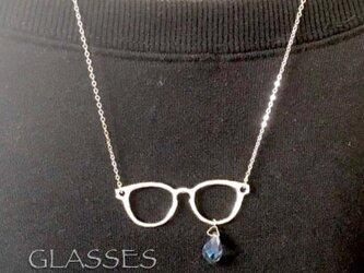 GLASSES 泣き虫メガネのネックレスの画像