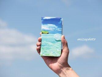 【送料無料】Power of Blue / フォトプリント手帳型スマホケース【iPhone/Android全機種対応】の画像