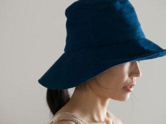 日よけ帽(藍染ガーゼ)の画像