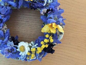 初夏の青色リース 母の日のプレゼントに添えての画像