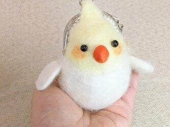 羊毛フェルト小鳥財布の画像