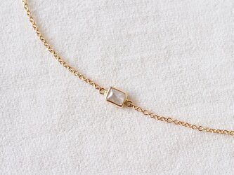 Pure White Rectangle Diamond Braceletの画像