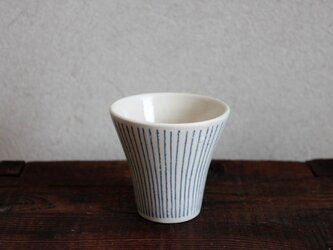 ブルーストライプフリーカップの画像