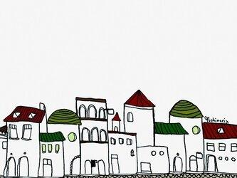 どこかの街並みの画像
