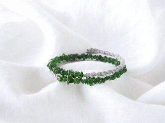 【Sale】Green Chip Bangle(クロム・ダイオプサイト)の画像