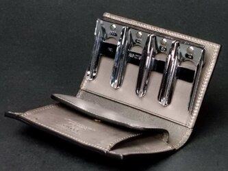 コインキャッチャーのコインケース --- 希少国産牛革ロロマ [セピア]の画像