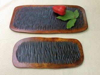 カバの盛り皿2枚組【うろこ模様】#387の画像