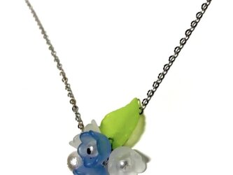 6月生まれの 紫陽花ネックレスの画像