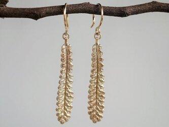 Lavender leaf earrings {EP056K10}の画像