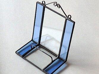 ステンドグラス ディスプレイスタンド (ブルー)の画像