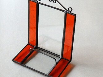 ステンドグラス ディスプレイスタンド (朱色)の画像