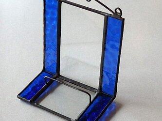 ステンドグラス ディスプレイスタンド (瑠璃色)の画像