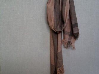 手織りストール ~草木染・綿~の画像