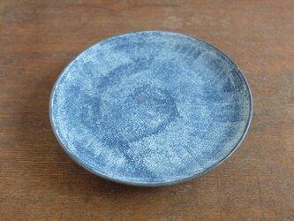 インディゴ 丸皿 6寸の画像