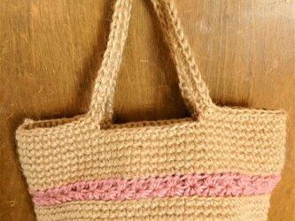 スタークロッシェのミニバッグ(ピンク)の画像