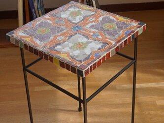 ガラスモザイク・サイドテーブル 4estrellas(4つの星)の画像