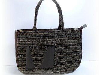 裂き織りバッグ(大)B-076の画像