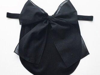 ドレスにも合う胸元カバー【デコレボンヌ】リボンデコレの画像