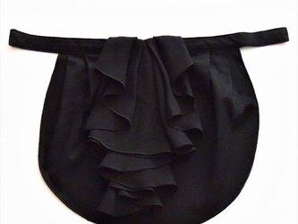 ドレスにも合う胸元カバー【デコレボンヌ】フリルデコレ(黒)の画像