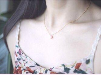 再販】ピンクオパールのマロンカットネックレス~Marielleの画像