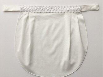 ドレスにも合う胸元カバー【デコレボンヌ】クレール(白)の画像