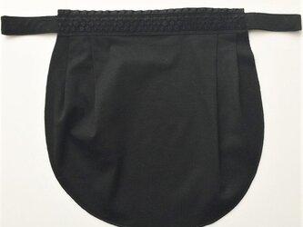 ドレスにも合う胸元カバー【デコレボンヌ】ポワ(黒)の画像