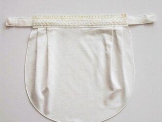 ドレスにも合う胸元カバー【デコレボンヌ】ポワ(白)の画像