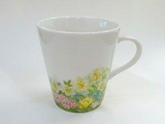 春の草花マグカップ(手描き)の画像