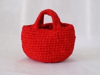 裂き編みバッグ(お散歩バッグ)の画像