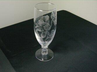 グラスリッツエン  ワイングラス   シクラメン画の画像