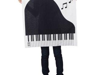 ピアノ柄風呂敷70cmサイズの画像