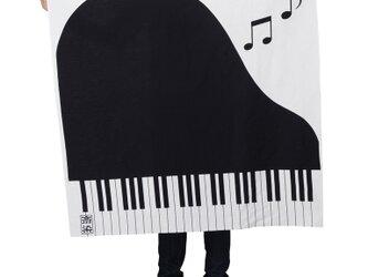 ピアノ柄風呂敷90cmサイズの画像