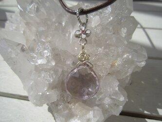 宝石質プチアメトリンのネックレスの画像