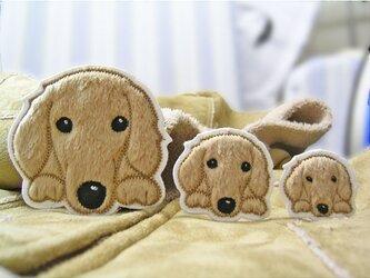 ★ダックスフンド★犬ワッペン★大中小3枚セットの画像
