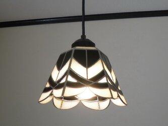ペンダントライト・モノトーン(ステンドグラス)天井のおしゃれガラス照明 Lサイズ・11の画像