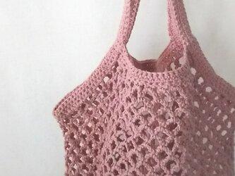 ネット編みのグラニーバッグ…ブロッサム…の画像