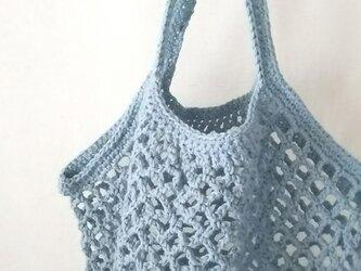 ネット編みのグラニーバッグ…ドロップ…の画像