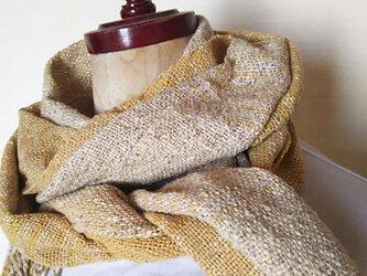 上質シルク 手織りストール 339の画像
