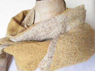 上質シルク 手織りストール 338の画像