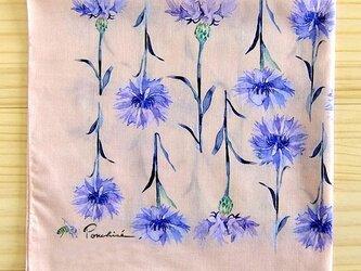 矢車菊のハンカチの画像