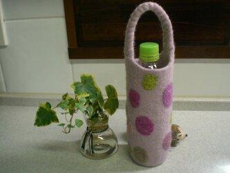 N.様ご予約品 ボトルホルダー(グレイッシュピンク)の画像