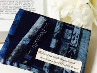 オトナのティッシュケース★リアル本棚ブルーの画像
