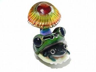 こんにちは 【 kengtaro / ケンタロー 】 キノコ カエル ボロシリケイトガラスの画像