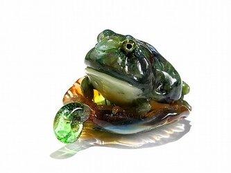 ベルツノガエル ペンダント トップ【 kengtaro / ケンタロー 】 ボロシリケイトガラス 蛙 かえる フロッグの画像
