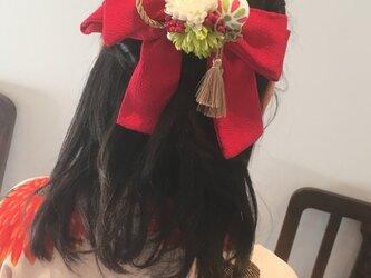 お花のはいからさんリボン【髪飾り】卒業式、謝恩会にの画像