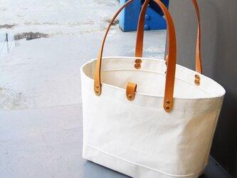 たっぷり容量6号帆布のトートバッグ~生成(尾道帆布)~の画像