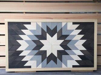 ヘリンボーン柄のローテーブル(折りたたみテーブル)の画像