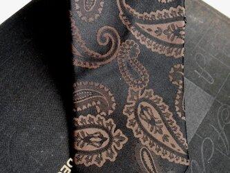 ネクタイシャドーペイズリーブラウン シルク(絹)100%の画像